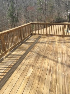 Pelham, Alabama deck post-pressure washing and sanding